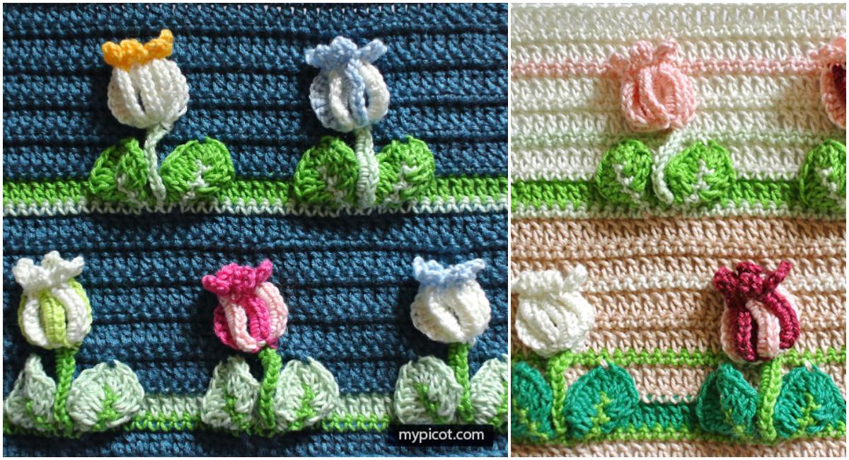 How To Crochet Tulip Stitch [Free Pattern + Video Tutorial]